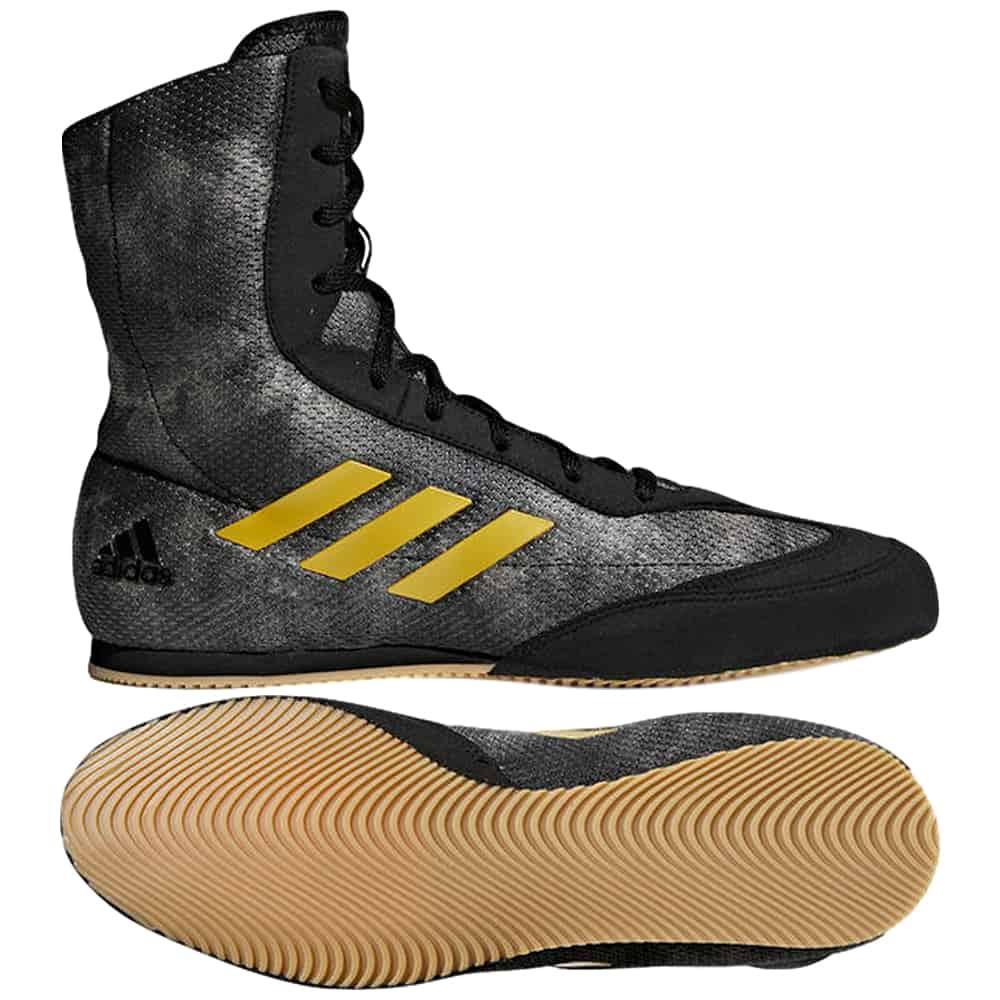 Adidas Box Hog Black Gold Boxing Boots